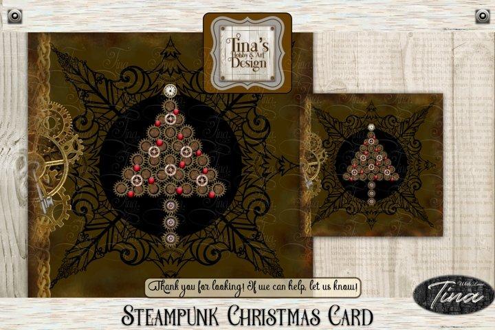Christmas Tree Detailed Steampunk Christian Gears 101418CC