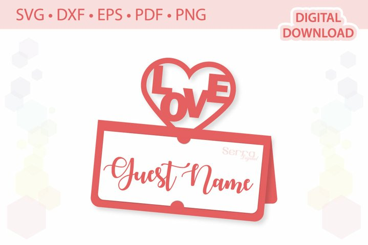 Love Place card template .svg .dxf .eps .pdf .png