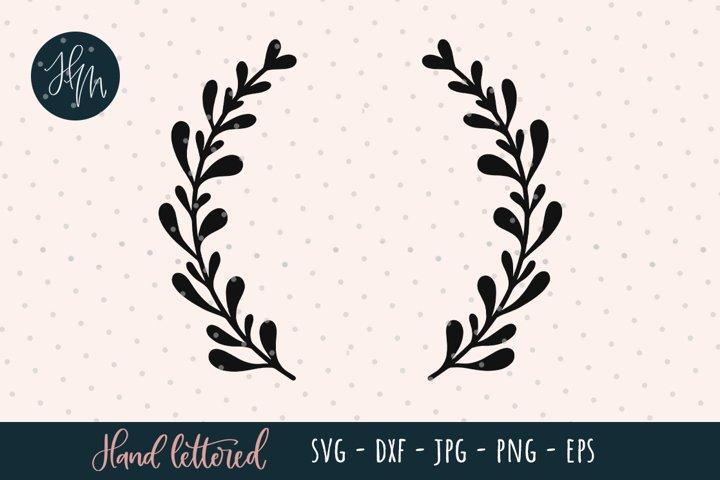 Laurel wreath hand drawn SVG cut file