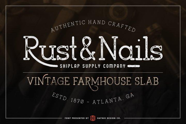 Rust & Nails Vintage Farmhouse Slab