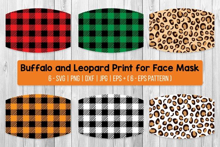 Buffalo Plaid And Leopard Print For Face Mask Bundle