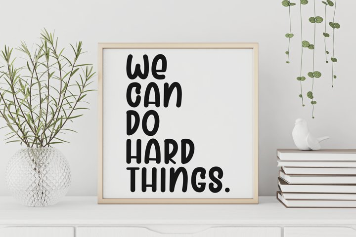 We Can Do Hard Things, Back to School Print, Printable Wall