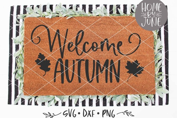 Welcome Autumn Fall Doormat SVG DXF PNG
