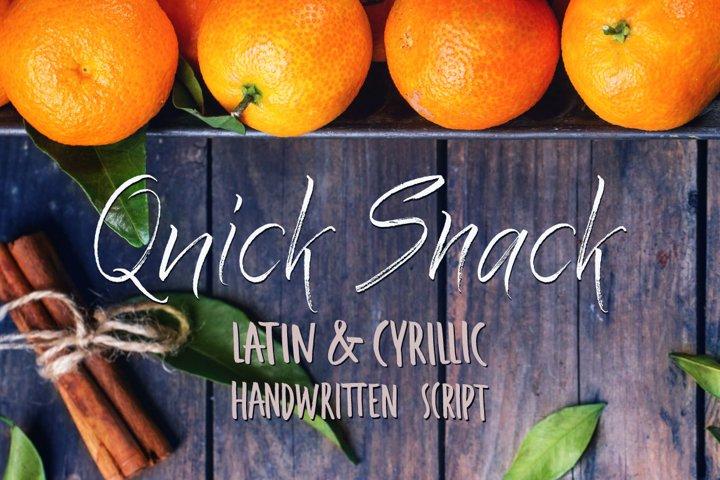 Quick Snack Script Latin & Cyrillic