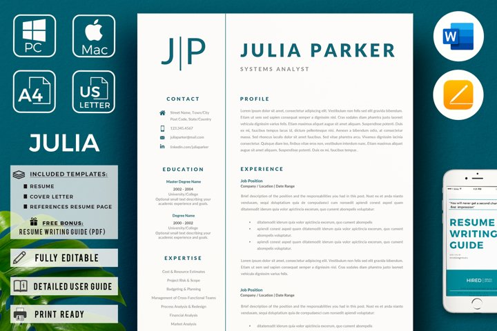 Professional Resume Template | CV Template Cover Letter