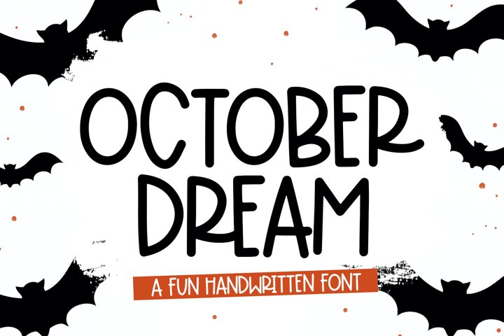 October Dream - A Fun Handwritten Font