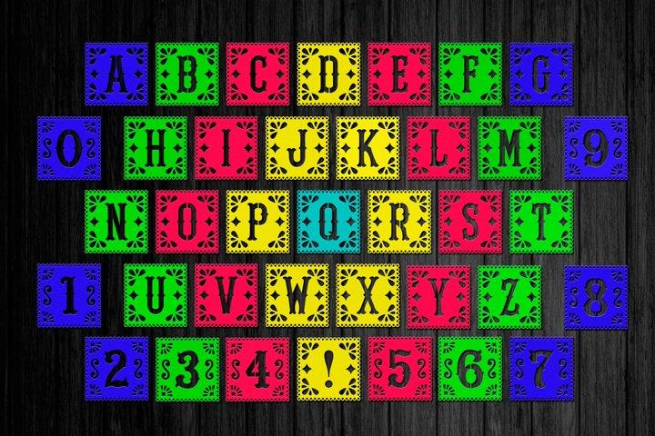 Alphabet Papel picado svg, Papel picado banner, Font svg