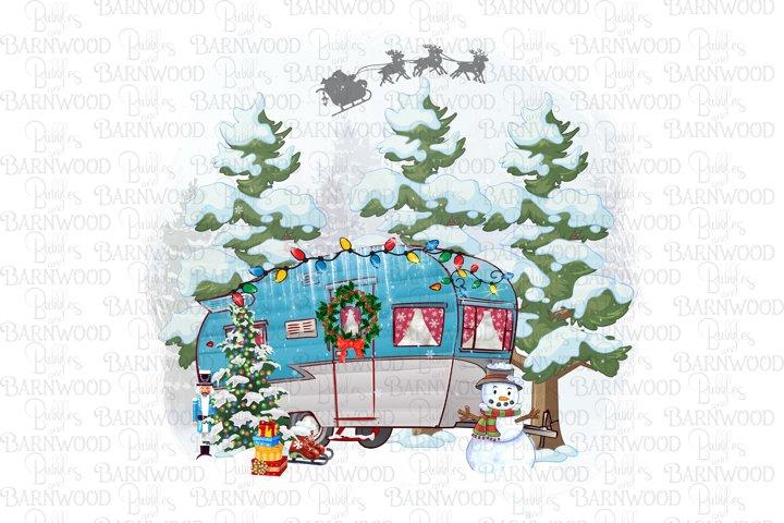 Camper Christmas Design Scene