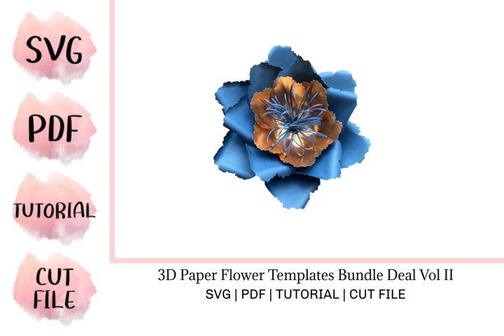 3D Paper Flower Templates Bundle Deal Vol II