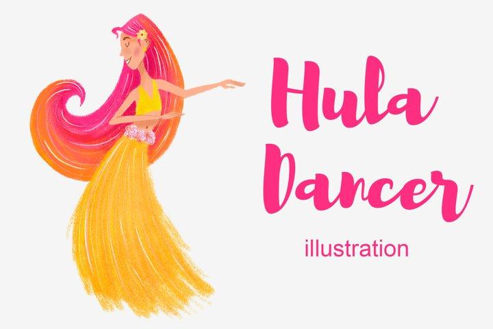 Hula Dancer illustration