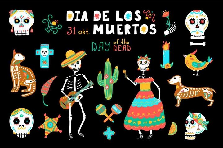 Day of the Dead clipart - Mexican Holiday Dia de los Muertos