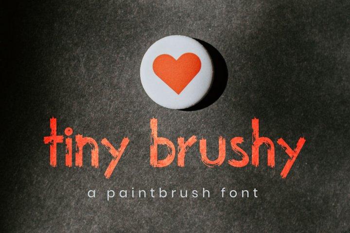 The Tiny brushy Font Digital Font