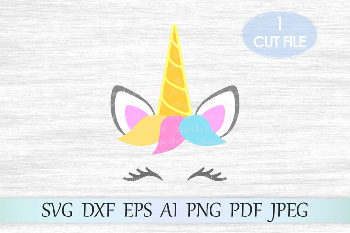 Unicorn svg, Unicorn cut file, Unicorn head svg, Clipart