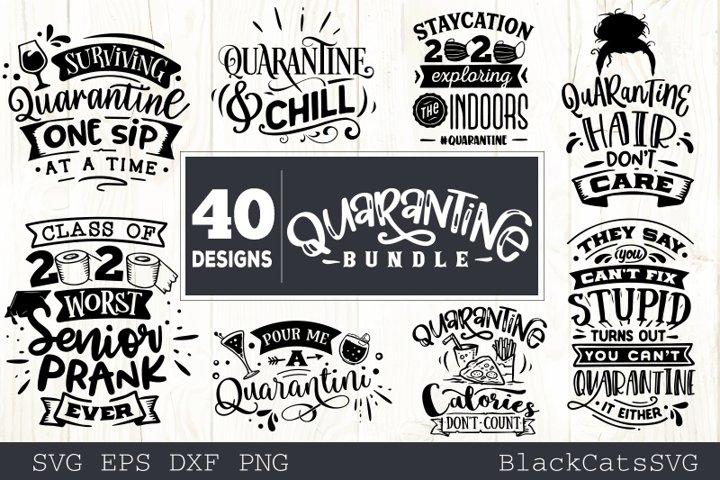 Quarantine SVG bundle 40 designs