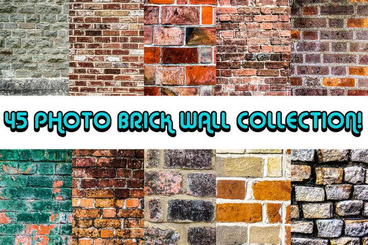 Bundle Collection of 45 Bricks and Walls Photographs