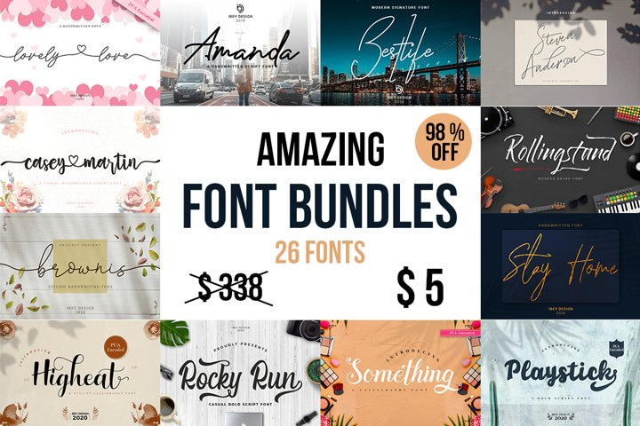 AMAZING FONT BUNDLES - LIMITED TIME ONLY