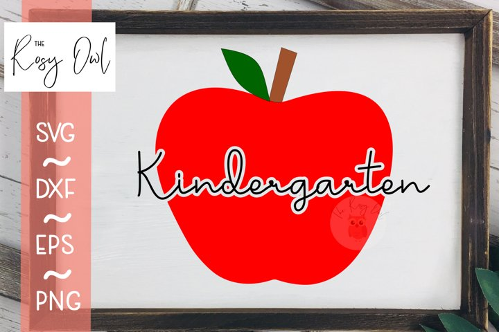 Kindergarten Apple SVG PNG DXF EPS
