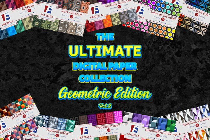 The ULTIMATE Digital Paper Collection Geometric Set Vol. 2