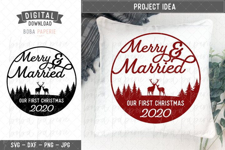 Merry and Married SVG - Our First Christmas SVG