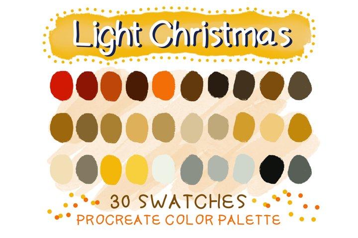 Light Christmas Procreate Color Palettes