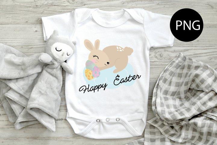 Easter bunny PNG, Easter cute bunny PNG, Easter sublimation