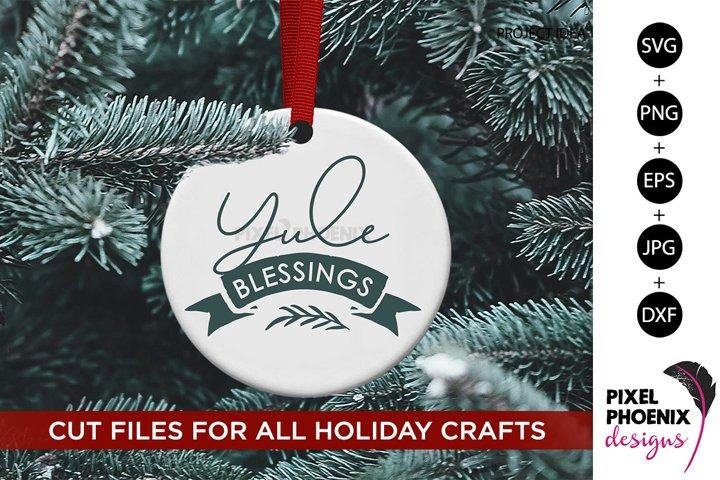 Yule Blessings, Yule SVG, Yuletide SVG, Christmas SVG
