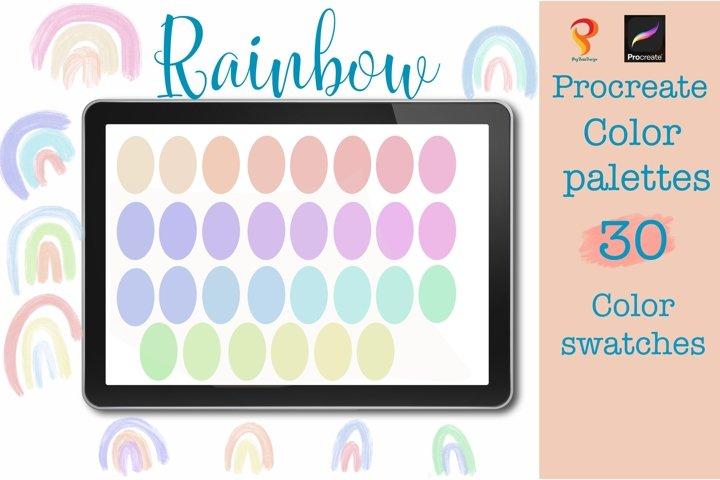 Procreate Palettes color  Rainbow color palettes