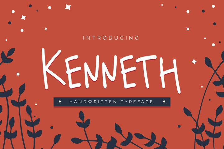 Kenneth - Handwritten Typeface
