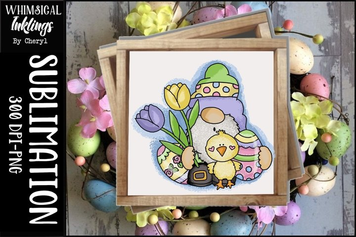 Cute Easter Gnome Sublimation Clipart