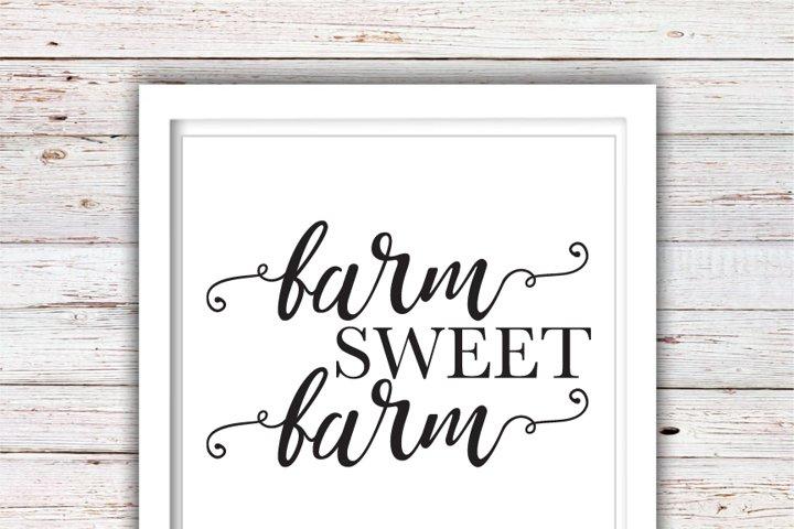 Farm Sweet Farm SVG | Farmhouse SVG | Farmhouse | High Quality Svg Eps Dxf Png Files | Cricut Files Silhouette Cameo | Instant Download