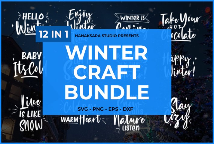 Winter Craft Bundle - 12 in 1