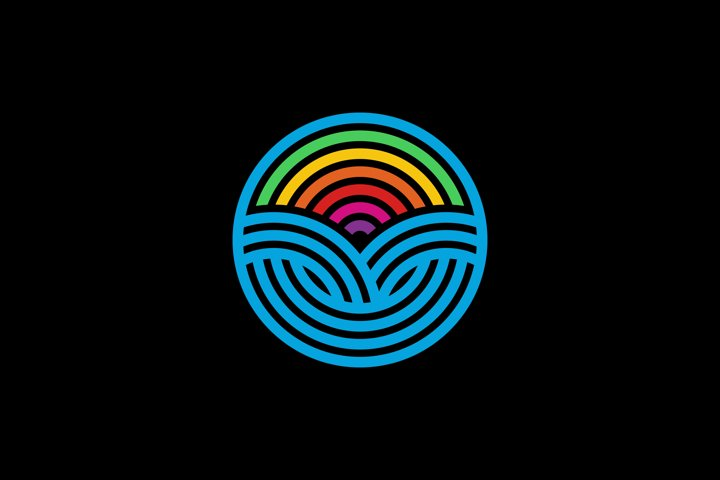 Circle Rainbow Logo Design Template