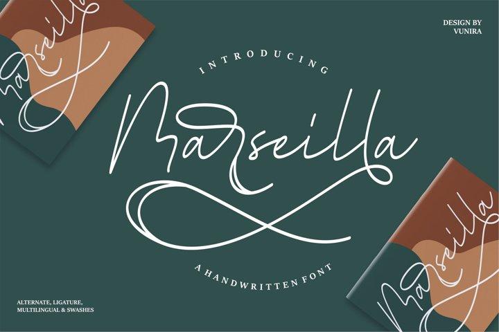 Marseilla   A Handwritten Font
