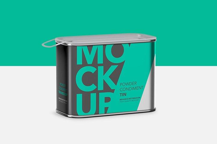 Tin Mockup - Translucent Cover