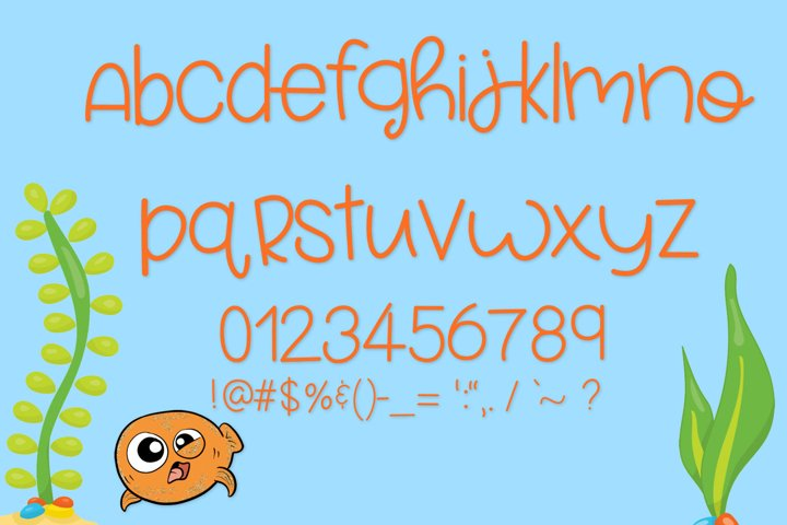 Fish Face - A Really Fun Handwritten Font - Free Font of The Week Design0