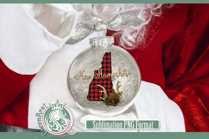Sublimation | New Hampshire Plaid Christmas State