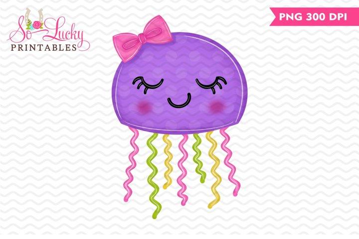 Jellyfish printable sublimation design