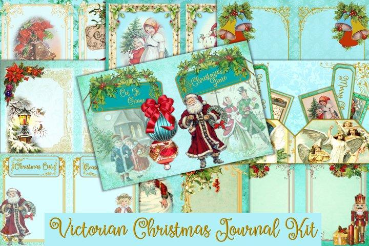 Vintage Christmas Journal Kit with Free Ephemera JPEG & PNG
