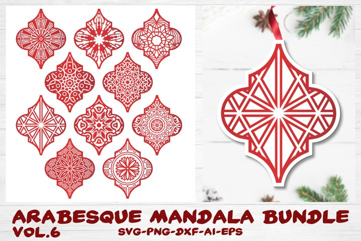Arabesque Tile Ornament Bundle vol.6 - Christmas Mandala SVG