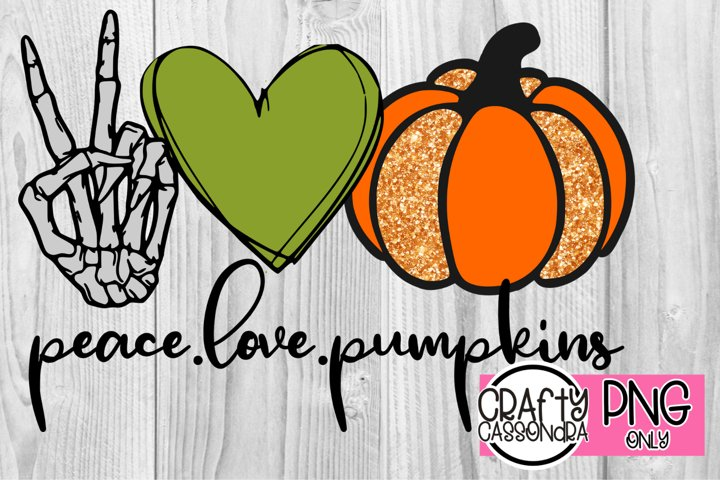 Halloween file for sublimation prints Peace Love & Pumpkins