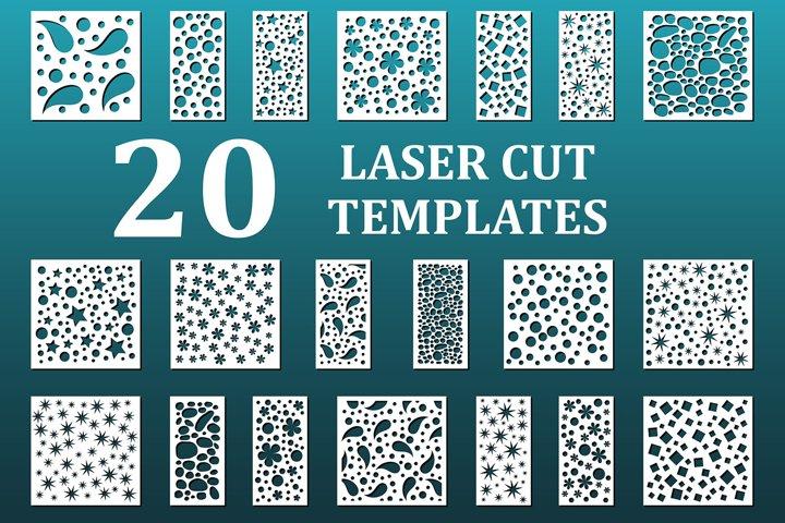 Decorative panels. Laser cut files.
