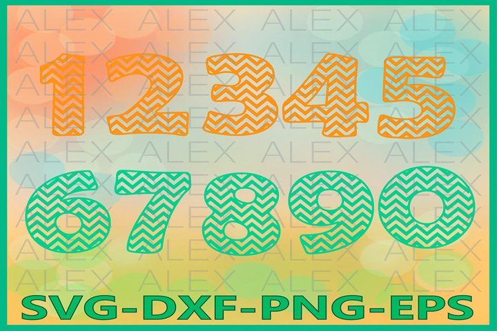 Numbers Chevron SVG Files, Numbers Svg
