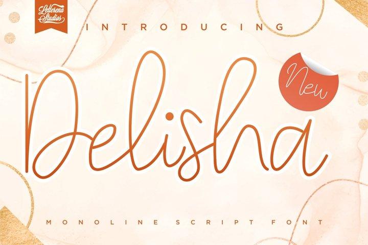 Delisha - MinimalistMonoline Script Font