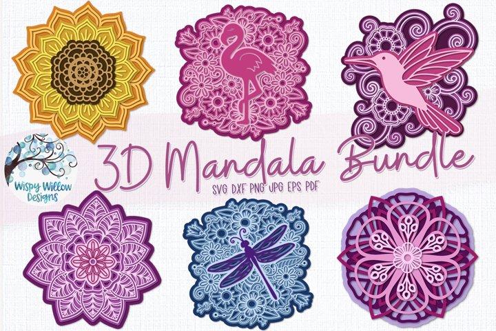 3D Mandala Bundle   3D Layered Mandala SVG Bundle
