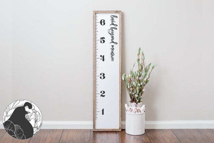 Growth Chart SVG, Growth Ruler Cut File