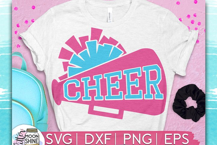 Cheer Megaphone SVG DXF PNG EPS Cutting Files