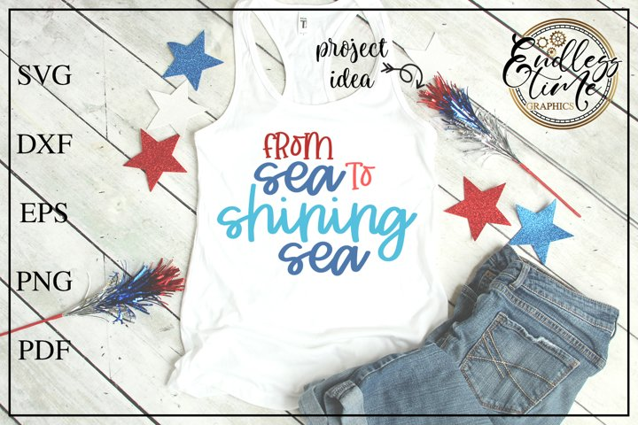 From Sea To Shining Sea SVG - A Patriotic SVG Cut File