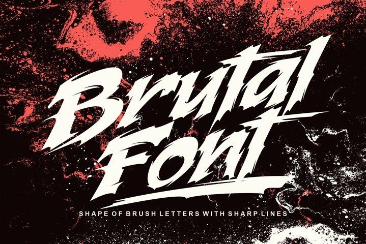 Brutal font