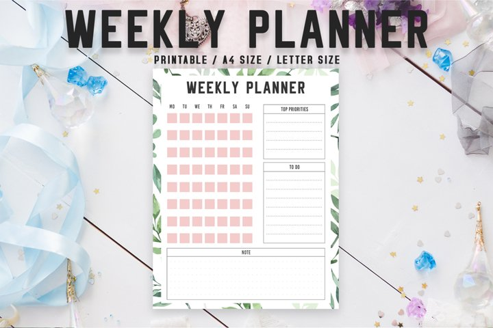 Colorful Weekly Planner Printable