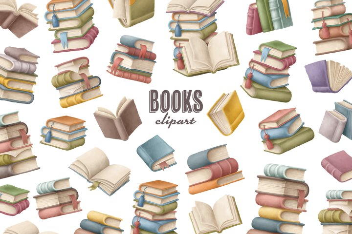 Books clipart collection